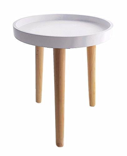 Deko Holz Tisch 36x30 cm weiß