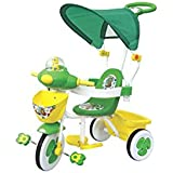 EHomeKart Tricycle For Kids With Music, Parental Control Handle And Canopy - Honey Bee Baby Cycle - With Front And Rear Storage Basket - For Boys And Girls (1 Year - 4 Years)
