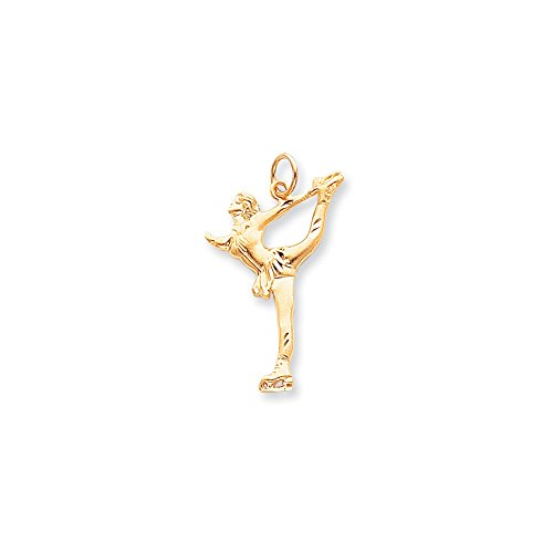 10 k massiv Diamant Schnitt Figure Skater Charm (höherer Feingehalt als JewelryWeb Hängeohrringe, 9 kt Gold