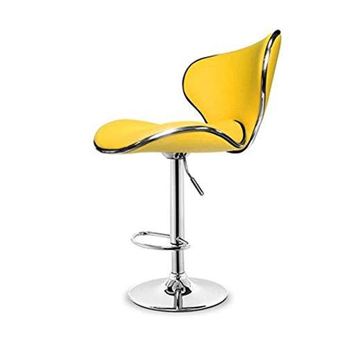 Chaise de bar d'ascenseur, tabouret haut de dossier à la maison approprié à la cuisine, à la chaise de salle à manger, à la chaise en cuir d'unité centrale + à l'éponge à haute densité + au