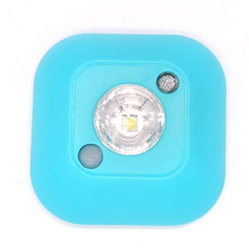 YNLKJS LED Nachtlicht Intelligente Menschliche Körper Induktion + Lichtempfindliche Steuerung Nachttisch Kabinett Buch Licht Batterie Stromversorgung - Regenbogen-licht Gesunde