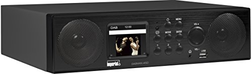 Imperial 22-245-00 Dabman i450 Internet-/DAB+ Radio (2.1 Sound,Bluetooth,Internet/DAB+/DAB/UKW,WLAN,LAN,USB,Aux In,Line-Out,inkl. Netzteil) schwarz