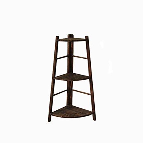 Stand De Fleur Solide Bois Intérieur Balcon Salon Coin Multicouche Plancher-Debout Fleur Épargnant Stand (Taille : High 97cm)