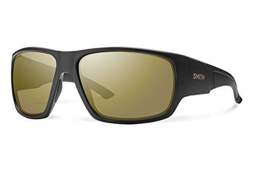 Smith dragsterrennstrecke chromapop + polarisierte Sonnenbrille, Uni, Matte Black / Polarized Bronze Mirror
