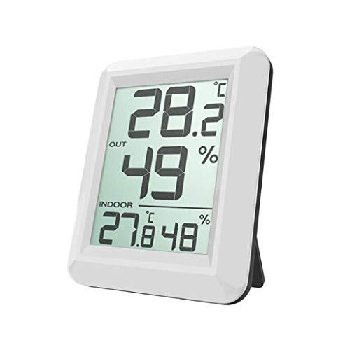 TMY Innentemperatur- und Luftfeuchtigkeitsmessgerät Hochpräzise Thermometer-Hygrometer Maximale Mindestanzeige Wetterstationen (Color : White, Größe : 7.4cm)
