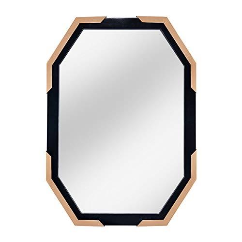 Cqing Espejo de Pared Moderno con Acento de Metal Poligonal Espejos Colgantes Decorativos de Cuerpo...