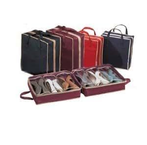 018745 porta scarpe scarpiera salvaspazio 6 paia organizer sacco ripostiglio casa e - Portascarpe da appendere ...