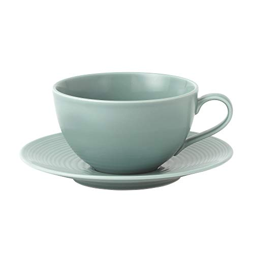 Royal Doulton Gordon Ramsay Maze Teal Frühstück Tasse und Untertasse 500ml Gordon Ramsay Maze