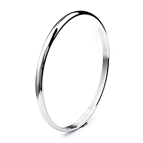 Bystar Stainless Steel Domed Slip on Bangle Bracelet For Women Stackable 5mm Seamless 8