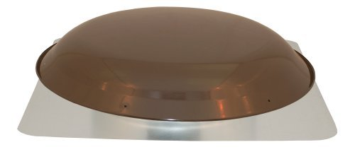 Cool Attic CX3000EEAMBR Power Attic Roof Mount Ventilator with 2.1-Amp PSC Motor and Steel Flange, Brown Galvanized Steel Dome by Cool Attic