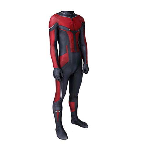 -Man Kostüm Superhelden Cosplay Verkleidung Halloween Mottoparty Strumpfhosen 3D Druck Spandex Onesies,Adult-S ()