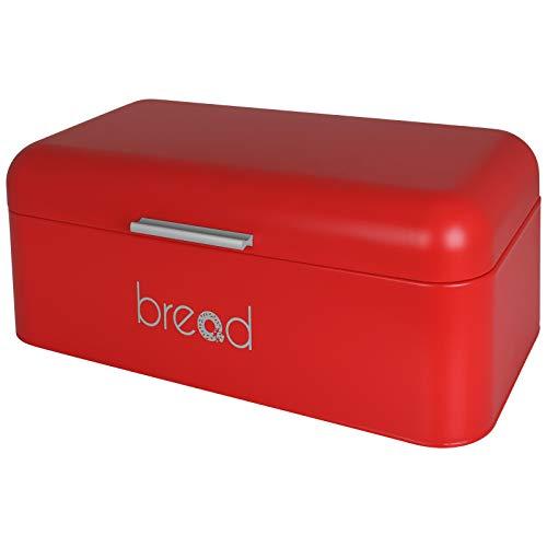 TW24 Brotbox - Brotkiste - Brotkasten - Metall 42x22x16cm - mit Farbwahl (rot)