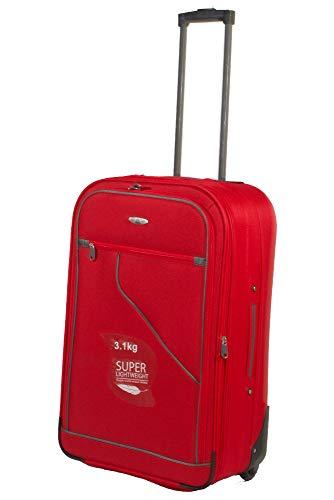 Trolley viaggio medio espandibile leggero 65 litri rosso RED 26''