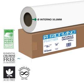 FABRIANO carta plotter naturale 610mmx50mt 90gr inkjet, usato usato  Spedito ovunque in Italia