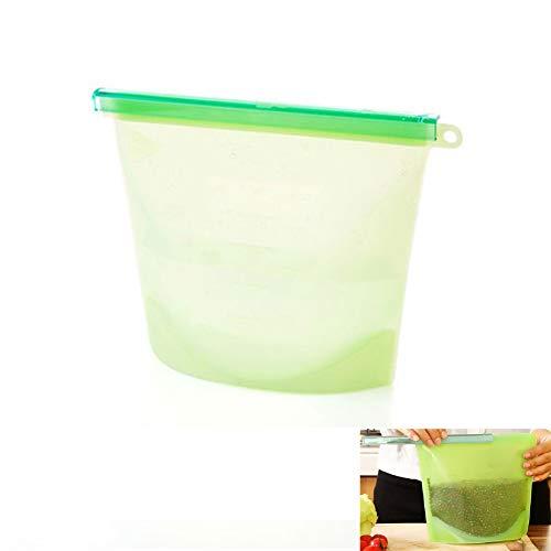 1pc Silikon-Frische-Beutel 1L Wiederverwendbare Silikon-Vakuum-Food-Speicher-Beutel Küche Lebensmittel Halter Container - Vakuum-container
