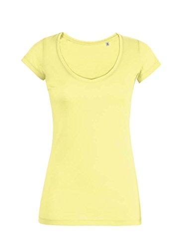 Maratus Damen T-Shirt aus Bio-Baumwolle mit tiefem V-Ausschnitt FAIR WEAR M / ge (Damen-bio-baumwoll-jersey)