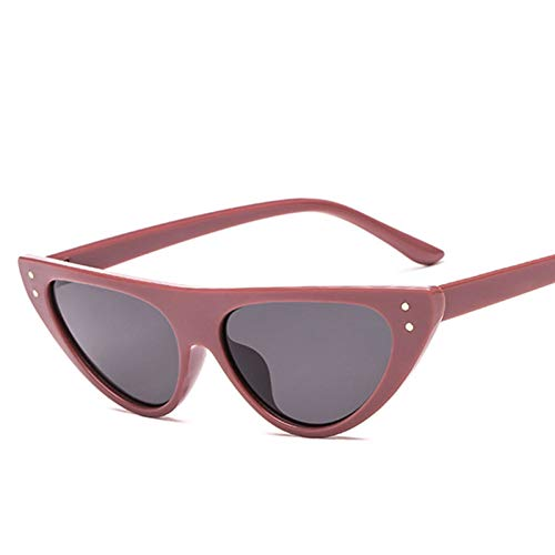 WTACK Vintage Red Goggles Frauen Sonnenbrillen Brillen Retro Fashion Steampunk Damen Big Triangle Cat
