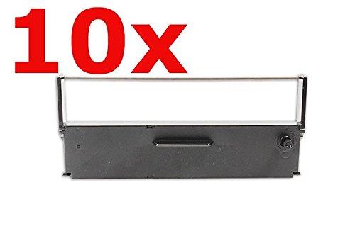 Inkadoo Farbbänder Sparsets kompatibel zu Epson TM-H 5000 II C43S015369 ERC-31-B C43S015369, 10x Premium Farbband Alternativ, Schwarz