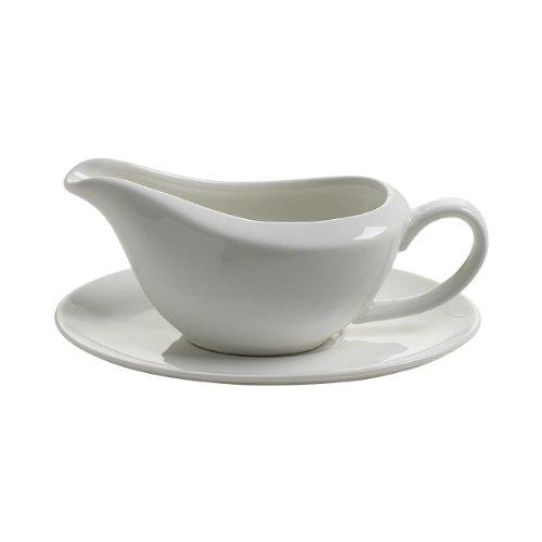 Maxwell & Williams JX58090 White Basics - Salsiera con piattino, 90ml, in confezione regalo