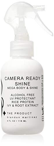 Wärmeschutz Spray für Glanz und Halt-Bestes verdickendes Haar Produkt, Volumizing Spray für feines Haar-Hitzeschutzspray-Aerosolfrei, B. DAS PRODUKT Kamera bereit Glanz (4oz)