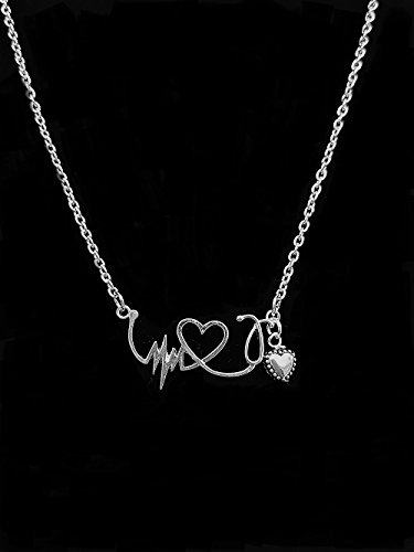 antique-silver-heart-beat-necklace-with-silver-heart