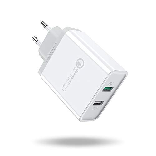 UGREEN Caricatore USB 30W Quick Charge 3.0 e 2.4A Caricabatterie...