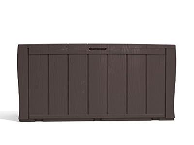 Keter Sherwood Outdoor Plastic Storage Box Garden Furniture, 117 x 45 x 57.5 cm - Brown