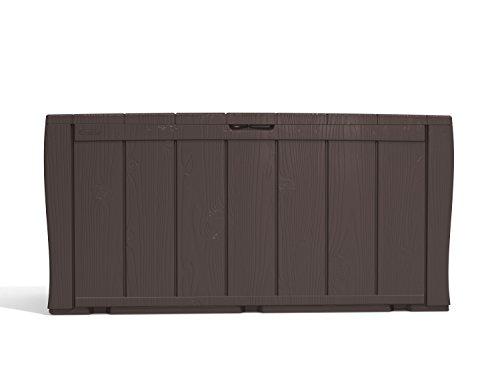 Keter Sherwood Outdoor Plastic Storage Box Garden Furniture, 117 x 45 x 57.5 cm – Brown