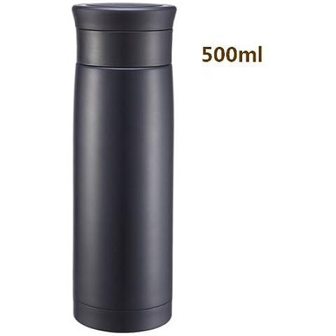 Bottiglia d'acqua in Acciaio Inox ventose a depressione isolamento termico isolamento di vetro di acqua in bottiglia bottiglia di vuoto ventose a depressione