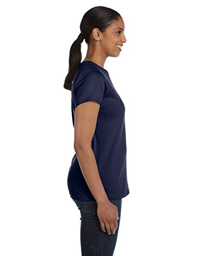 Hanes - T-shirt -  Femme Bleu Marine