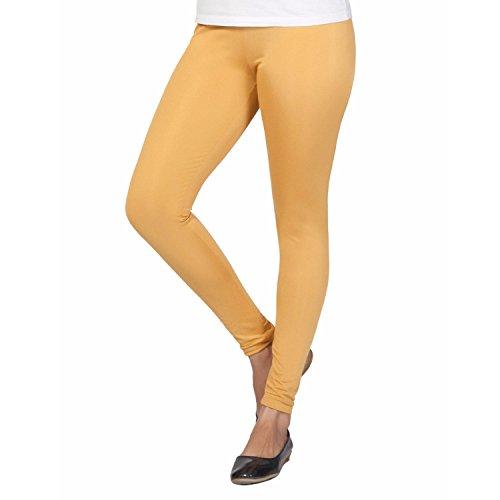 Trasa Shining Lycra Women's / Girls Full Length Churidar Shiny Beige Leggings -Size :- XXL (Brand Outlet)