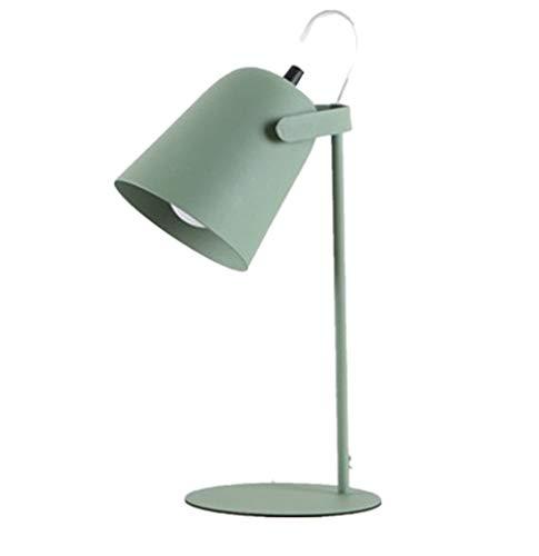 Modern estilo minimalista dormitorio junto a la sala de estar estudio lámpara de mesa de hierro militar verde blanco atenuado tamaño 14 x 15 x 34cm