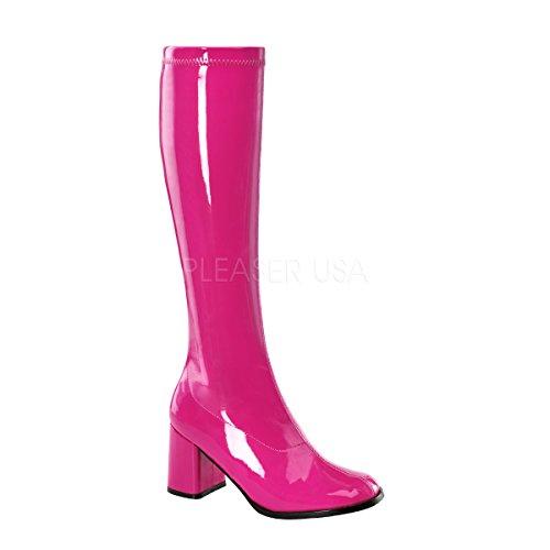 Funtasma GOGO-300, Scarpe a Collo Alto da Donna Rosa(Hot Pink Patent)