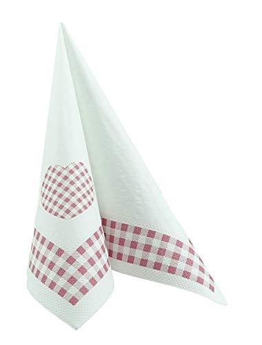sa kariert 33x33 cm Tissue - Design Landhaus alt rosa ()