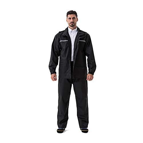78ed0db23704 Anyoo Unisex Traje de Lluvia Impermeable Chaqueta para la Lluvia con  Capucha y Pantalón Ropa Impermeable para la Lluvia