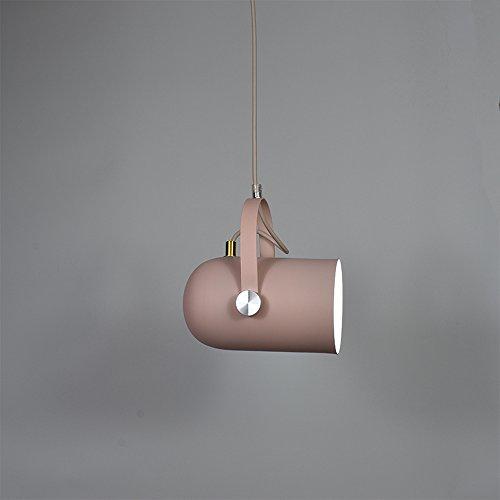Ganeep Nordic Vertraglich Droplight Winkel Einstellbar E27 Kleine Anhänger Hängeleuchten Wohnkultur Beleuchtung Lampen Und Laternen (Color : Pink) -