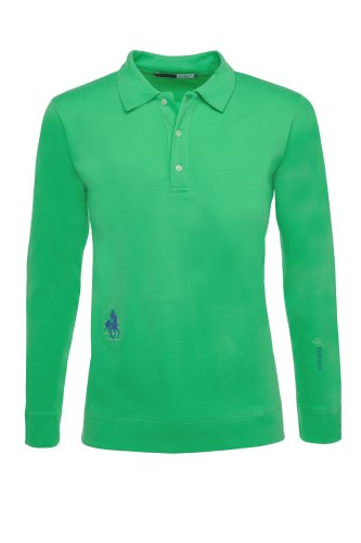 Der klassische Rider's Herren Polo Long Sleeve grün - Signalgrün