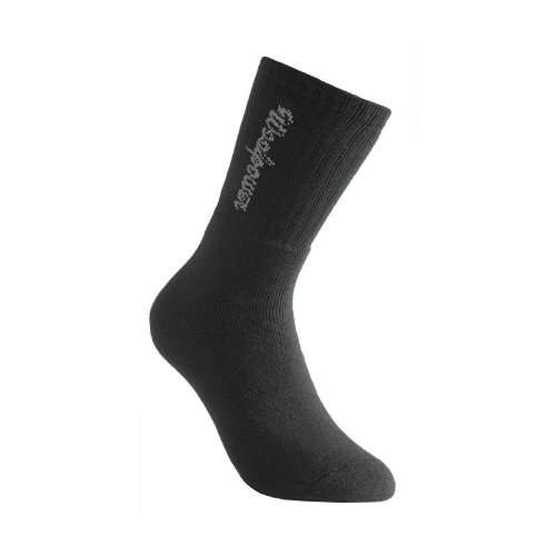 Woolpower 400 Socks Logo - Thermo Socken, 45-48, Schwarz