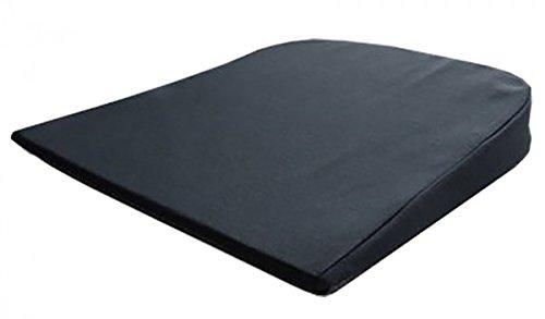 Pflegehome24 Auto - Keilkissen Sitzkeilkissen, abgerundet 37x 37x 7/2 cm - schwarz