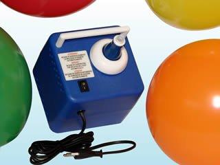 Preisvergleich Produktbild Ballonpoint Ballonzubehör Typ Z-1 GE-1 kleines preiswertes elektr. Ballongebläse plus 1 Figur Biene F17 und 5 kleine Luftballons. Aufblasgerät für Ballons von 24 bis 210 cm Durchmesser. Eignet sich auch zum Aufblasen von Folienballons.