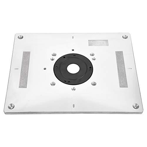 Fräsertisch - 300 mm x 235 mm x 9,5 mm DIY-Fräser-Tischplatte und Einlegering Holzbearbeitung