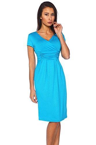 Fancy That Clothing - Robe -  Femme Cyan Blau