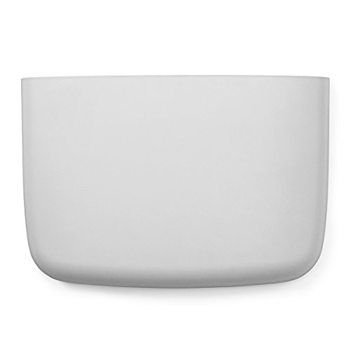 Normann Copenhagen 382018 - Bolsillo de almacenaje para pared (19 x 28 cm, diámetro de 8,8 cm), color blanco