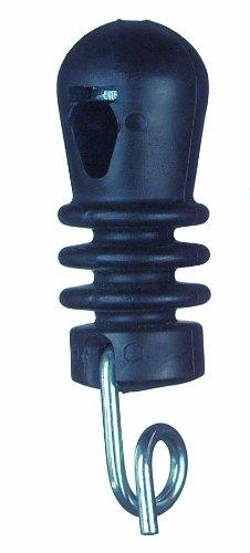 Göbel Clôture électrique isolateur Tête Bague isolateur pour piquet rond 8 mm type WZ 10 A Noir 25 pcs