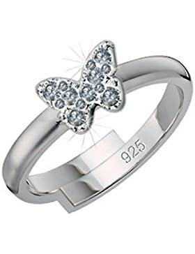 SCOUT Kinder-Ring 925 Silber rhodiniert Zirkonia weiß Ringgröße verstellbar - 263014100