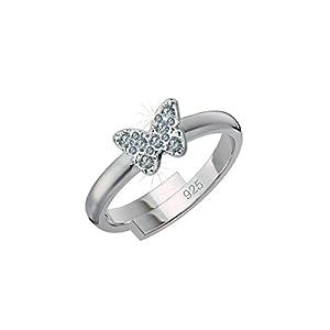 SCOUT Kinder-Ring 925 Silber rhodiniert Zirkonia weiß Ringgröße verstellbar – 263014100