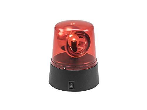 Eurolite 9639397617665 Mini feu de Police à LED Rouge USB/Pile