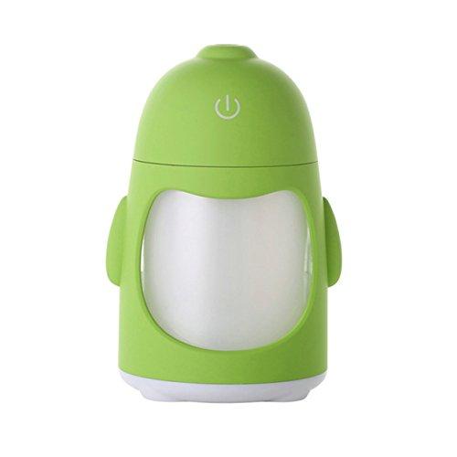 Preisvergleich Produktbild Bubble Regen A79150ml LED Licht Luftbefeuchter USB 5V Ultraschall Nebelmaschine Mist Maker Home Auto Luftbefeuchter Diffusor Air humidificador grün