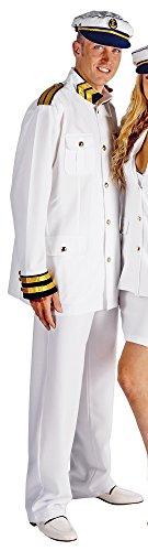 Das Kostümland Kapitän Kostüm für Herren - Seemann Matrosen Kreuzfahrt Anzug mit Mütze - Gr. 56 (Seemann Jacke Kostüm)