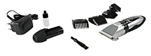 Tondeuse pour Chiens, Chats, Animaux - Tête de Coupe en Titane et Couteaux en Céramique, sans Fil avec 2 Batterie rechargeable et 4 Sabots (3, 6, 9, 12 mm) + Kit de nettoyage pour tondeuse